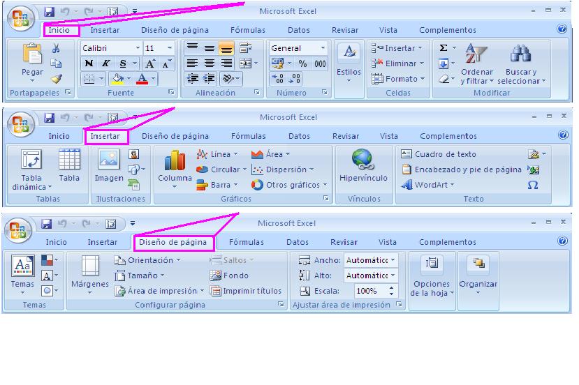 Barras de Menu de Excel Barra de Menu de Excel