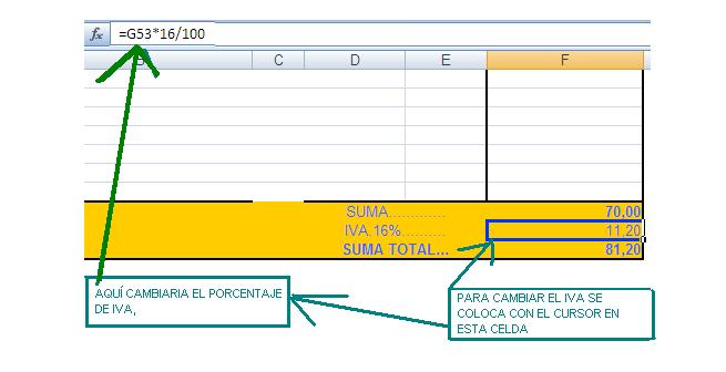 Imagen de fórmulas modelo factura (clic para ampliar)