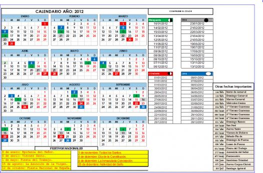 Calendario lunar 2012 for Calendario lunar junio